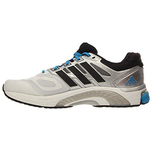Adidas Supernova Sequence 6 Running Shoes Taille Us 8, Largeur réguliÚre, Couleur Blanc / argent / Running White / Black / Black / Solar Blue 2