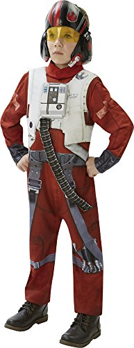 (Rubie's 3620266 - EP7 X-Wing Fighter deluxe child, 9-10 Jahre, rot/weiß)