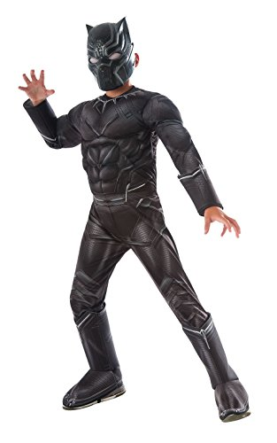 Rubie 's Offizielles Kind 's Marvel Panther Deluxe Kostüm Bürgerkrieg–Schwarz, (Bürgerkrieg Kind Kostüme)