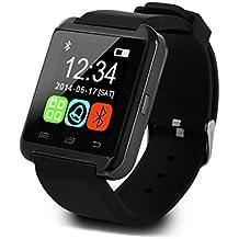 Wildguarder bluetooth reloj inteligente U8 reloj de pulsera para Samsung S4 / Nota 3 HTC todos Android diferente smartphonese (negro)