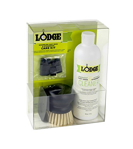 Lodge A-CAREE1 Enameled Cast Iron and Stoneware Care Kit, Plastic, Assorted