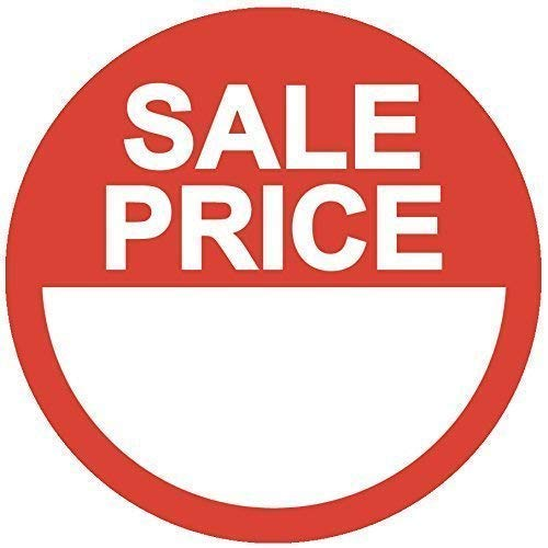 Audioprint Ltd. 500 Pack of Sale Price Stickers Red 20mm