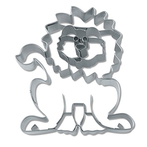 Haus Löwe Form Cookie Cutter, silber