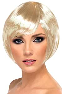 Smiffy's Babe Perruque Bob – Blonde, courte