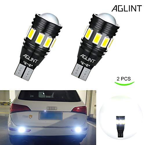 AGLINT Ampoule LED W16W Sans Erreur CANBUS 13SMD Extrêmement Lumineux T15 T16 912 921 Pour Auto LED Inversée Sauvegarde Inversée Ampoule (Blanc Xenon 2 Pièces)