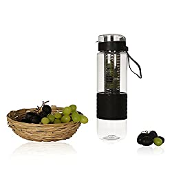 Steelo Saylor Tritan Fruit Infuser Bottle, 750ml, Black