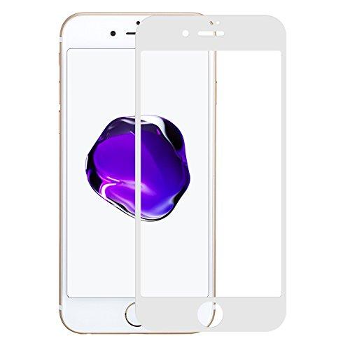 iPhone 7 Plus / 8 Plus Panzerglas 3D Full-Cover 9H Echtglas HD Displayschutzfolie deckt gesamte iPhone 7 Plus Front ab (5.5, Weiß)