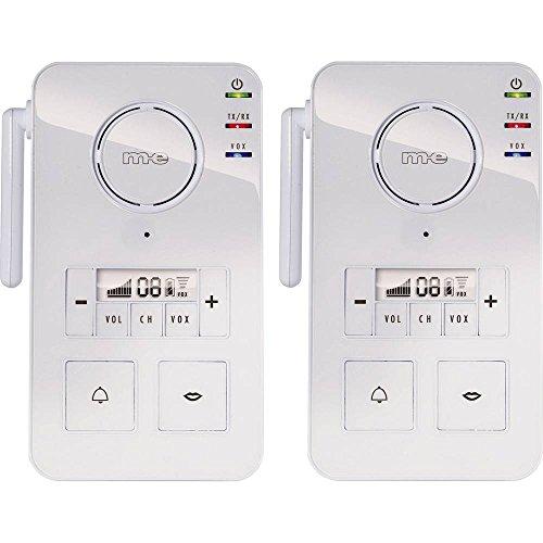 m-e modern-electronics FS 2.1 Gegensprechanlage Funk 446MHz 2000m Weiß