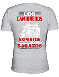 TEEZILY LOS Camioneros Expertos Camiseta Hombre