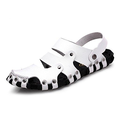 Cystyle Slide Sandal Herren Freizeit Hausschuhe Sandalen Outdoor Sommer Strand Pantolette Schuhe Weiß