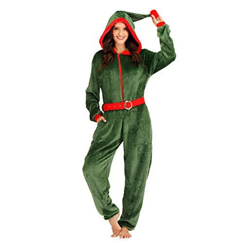EraSpooky Damen Weihnachten Elfe Kostüm Faschingskostüme Einteiler Cosplay Party Karneval Fastnacht Kleid für Erwachsene
