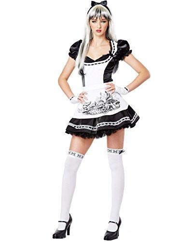 California costumes Damen Kostüm Teen-Verkleidung Dark Alice Gr. Größe L, Weiß - Weiß
