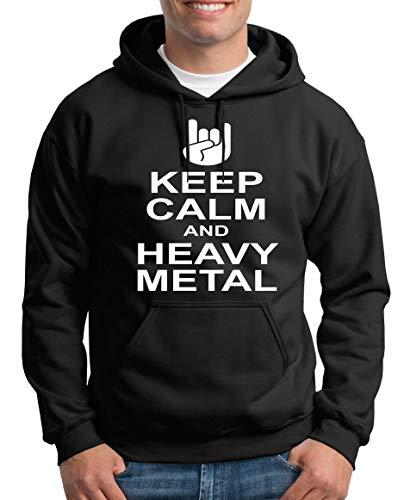 TShirt-People Keep Calm and Heavy Metal Kapuzenpullover Herren XXXL Schwarz