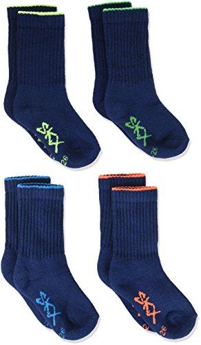 Skechers Socks Jungen Sportsocken SK41005, 4er pack, Blau (Denim 33), 35-38