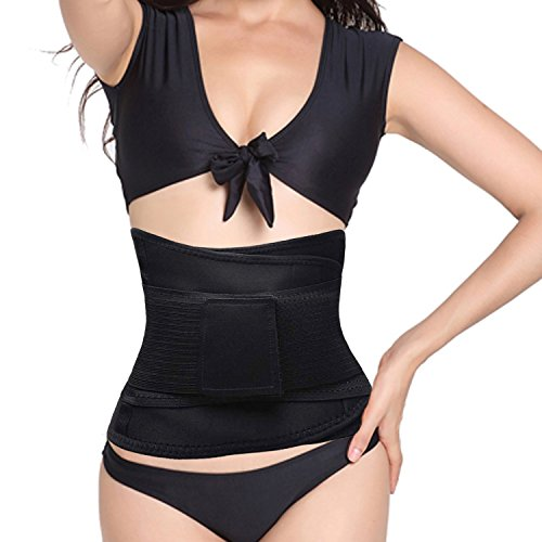 YC Slimming Rasentrimmer Gewicht Verlust Unterstützung Gürtel Elastic und Netzstoff Taille für Damen & Herren, Damen, Schwarz, Large -
