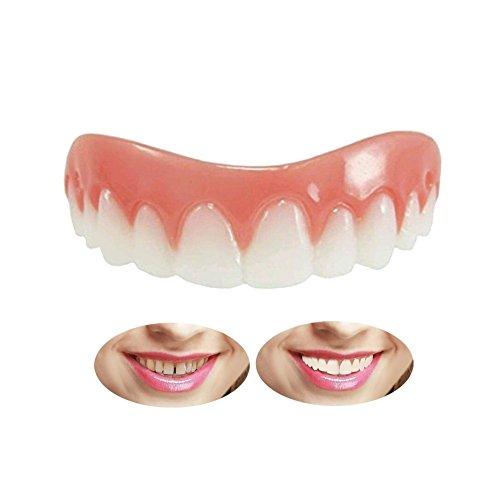 Quick Dental Tooth Provisorischer Zahnersatz Zahnprothese Veneer für Oberkiefer Kosmetische Zähne Sofortiges Lächeln Zähne Whitening Prothese Für ein perfektes Lächeln -