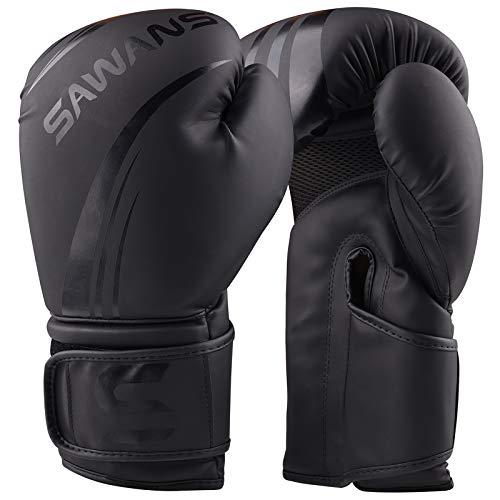 SAWANS guantoni da Boxe Professionali Pelle per Arti Marziali Miste Kickboxing Boxe Muay Thai
