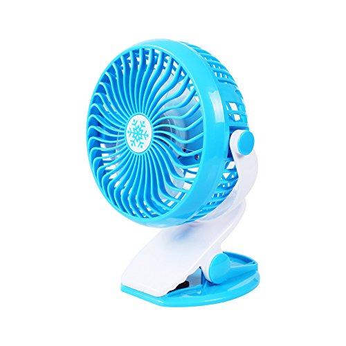 G.Wei USB-Lade-Clip Mini Fan Student Tragbaren 360-Grad-Lüfter Drehbar