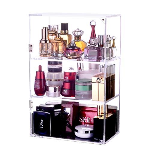 Acrylique Cosmétique Organisateur Table de Rangement Stand Comptoir Comptoir Cosmétique Cas Boîte de Bijoux pour Brosses, Rouge À Lèvres, Fondation