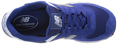 New Balance Ml574 D, Baskets mode homme Bleu (Sgb Blue/Silver)