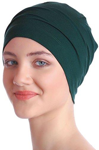 Unisex Kappe Aus Baumwolle für Krebs, Haarverlust - Schlafmütze (Jadegrün)