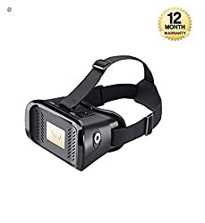 supreno Handy VR Virtual Reality Headset 3D Glass Box Headmounted Wearable Most Comfortable Kit 360 Degree Panoramic View Suitable For 4-6 inch Smartphones Premium IMAX 3D Cinema | Immersive Gaming Experience Innovative Technology For Android IOS Apple iPhone Samsung Sony HTC Gionee Oppo Oneplus ( 12 MONTH WARRANTY )
