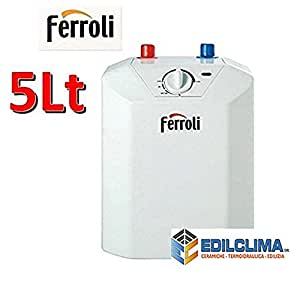 Scalda acqua elettrico 5 lt scaldabagno sottolavello for Amazon scaldabagni elettrici