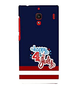 Fiobs Designer Back Case Cover for Xiaomi Redmi 1S :: Xiaomi Hongmi 1S (Happy 4th Of July American Independence Mobile Cover )