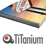 Titanium 81439dos métallique, blanc, 8mm
