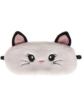 simpatici animali Fluffy Novelty sonno, maschera, occhi 3d con orecchie, Gatto, Gufo, Panda, Coniglio o Carlino