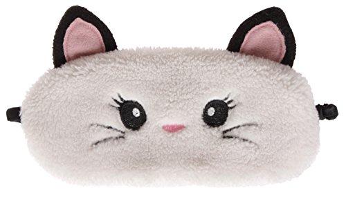 simpatici animali Fluffy Novelty sonno, maschera, occhi 3d con orecchie, Gatto, Gufo, Panda, Coniglio o Carlino Cat Taglia unica