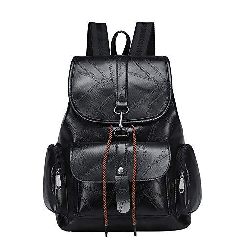 Calvin Speicher (Rucksack Damen Handtasches Schulrucksack Taschen BestShope Hochwertige PU Leder Rucksäcke Geldbörse Handtasche Kleine Beuteltasche Einfarbig Speicher Reißverschluss Tasche für Mode Mädchen Fraue Damen)