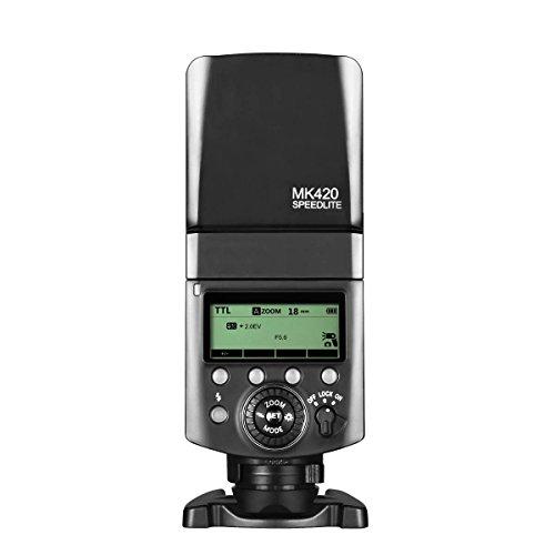 Meike MK420 F professionale Batteies Li Ion TTL flash Speedlite con display LCD per fotocamere Fujifilm mirrorless x t2/x t20/X T1/x t10/X Pro1/X100