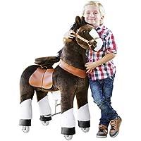 """'Pony Cycle """"Mister ED caballo marrón, Pony sobre ruedas fahrendes caballo balancín y peluche para su hijo de mypony"""