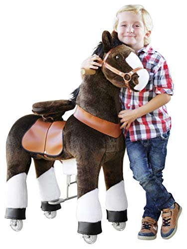 """Ponycycle """" Mister Ed """" Pferd braun, Pony auf Rollen fahrendes Schaukelpferd und Kuscheltier für Ihr Kind von MyPony (Medium)"""