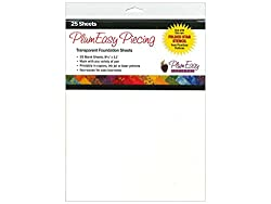 PlumEasy Patterns PEP204 Transparent Foundation Blank Sheets (25 Sheets)