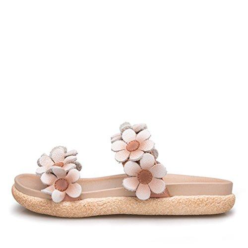 Sommer mode tragen dicke sandalen/Leder wort blume sandalen C