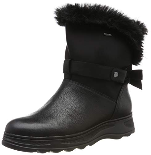 Geox D HOSMOS B ABX C, Botas de Nieve para Mujer, Negro Black C9999, 40 EU