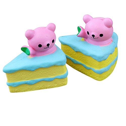 Preisvergleich Produktbild Gaddrt Kuchen Bär Squishy Spielzeug Display Brot Squishy Stress Relief Soft Toy Langsam Rising Creme Duft Dekompression Komisch Spielzeug Dekoration