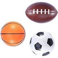 LIOOBO 3 unids Mini Soft Sport Balls PU Baloncesto Fútbol Fútbol Juguetes Divertidos Favores para Niños Niños Playa Esponja Bola de Juguete