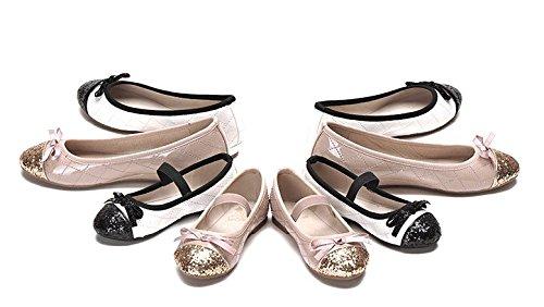4d7a37e2e4f4 ... Ohmais Enfants Filles Chaussure cérémonie Ballerines à bride Fête  Demoiselle d honneur Mariage Escarpin plat