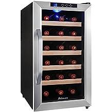 Kalamera KRC-18ASSE Cave à vin réfrigérée 48L (peut contenir jusqu'à 18 bouteilles de vin de taille standard) , refroidisseur à vin avec température 8-18 ° C