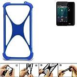K-S-Trade Handyhülle für Allview P42 Silikon Schutz Hülle Cover Case Bumper Silikoncase TPU Softcase Schutzhülle Smartphone Stoßschutz, blau (1x)