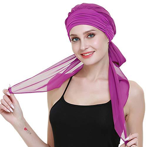 FocusCare Haare turbane hüte für Krebs Frauen perücke Gap Lange Haare Kopfbedeckung Kopf wickelt Kopftuch Haar-turban