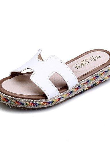 lfnlyx Femme Chaussures Plateforme en microfibre Chaussons/bout rond/Sandales à bout ouvert pour femme Noir/marron/vert/blanc vert - Vert