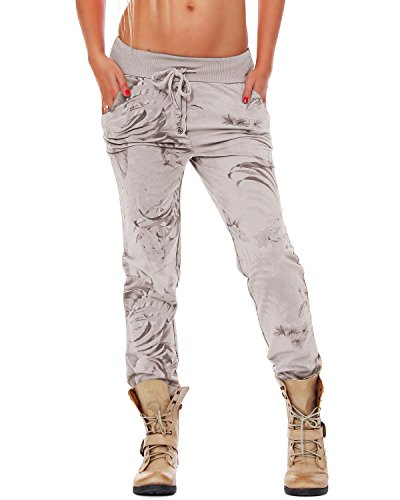 ZARMEXX Damen Sweatpants Sweathose Baumwollhose Jogger Jogginghose Freizeithose Relax Fit Damenhose Jungle-Print