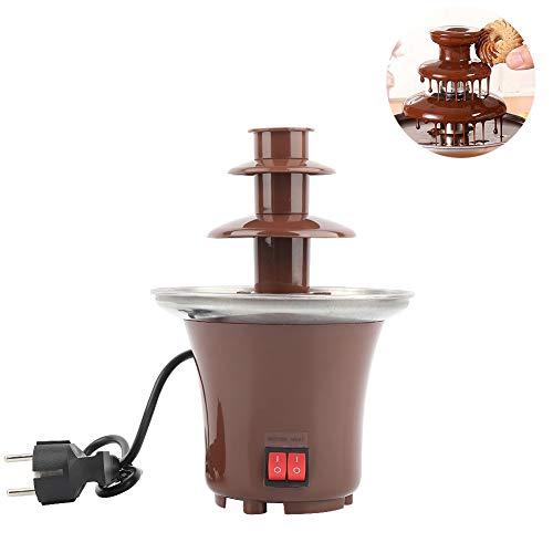 PILIBEIBEI Elektrischer 3-stufiger Schokoladenbrunnen aus Edelstahl für geschmolzene Schokolade, Süßigkeiten, Butter, Käse, Karamell, Weiß