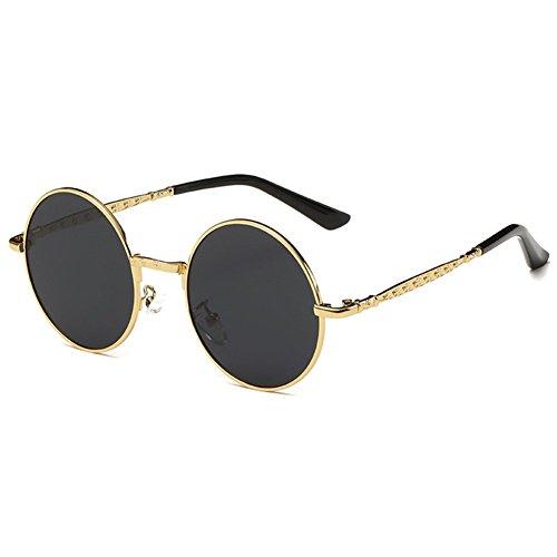 Highdas ronde Enfants lunettes de soleil polaris¨¦es Enfants B¨¦b¨¦ Lunettes de soleil Anti-UV400 Vintage Gold/Gris