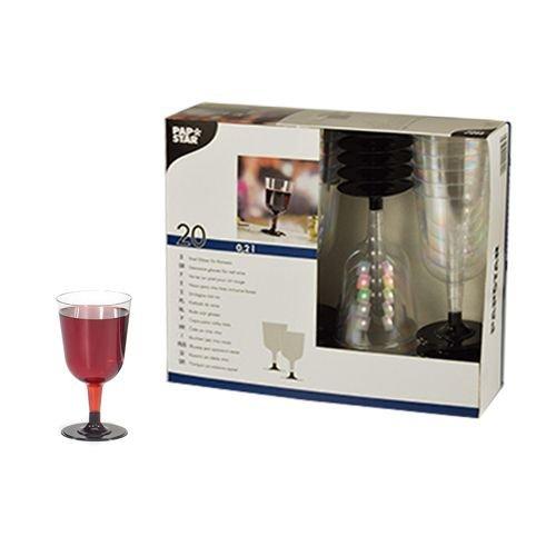 20 Stiel-Gläser für Rotwein, PS Invitation 0,2 l Ø 7,35 cm · 13,55 cm glasklar Plastik