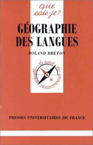 Géographie des langues